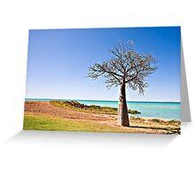 Boab Tree, Broome, Western Australia Greeting Card