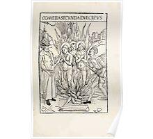 Opera Hrosvite, Illustrious virgin nun and genuine Albrecht Durer 1501 0025 Poster