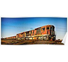 Iron Ore Train, Port Hedland, Western Australia Poster