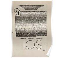 Measurement With Compass Line Leveling Albrecht Dürer or Durer 1525 0007 Basics Poster