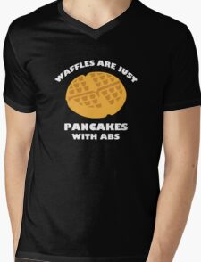 Waffles Are Just Pancakes With Abs Mens V-Neck T-Shirt
