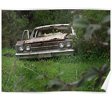 Rusty ford-ford falcon rusty wreck Poster