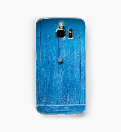 Vintage Blue Door in Southern France Samsung Galaxy Case/Skin