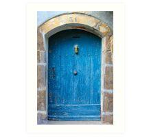 Vintage Blue Door in Southern France Art Print