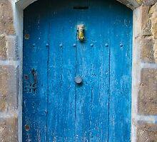 Vintage Blue Door in Southern France by Atanas Bozhikov NASKO