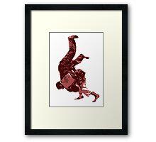 Judo Throw in Gi Red Framed Print