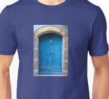 Vintage Blue Door in Southern France Unisex T-Shirt
