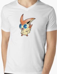 Pokemon - Victini Mens V-Neck T-Shirt