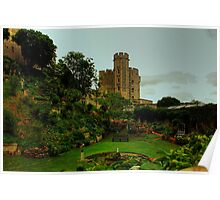 The Moat Garden, Windsor Castle Poster