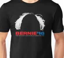 Bernie Sanders for President - Hair - White Text Unisex T-Shirt