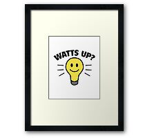 Watts Up? Framed Print