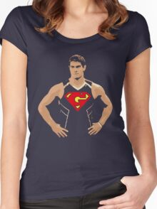 Jimmy Garoppolo - Superman Women's Fitted Scoop T-Shirt