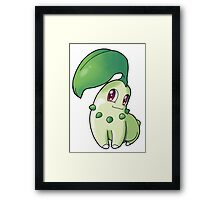 Pokemon - Chikorita Framed Print