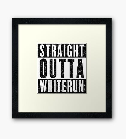 Adventurer with Attitude: Whiterun Framed Print