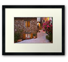 Gassin - classified as a most beautiful village on the French Riviera Framed Print