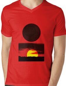 Sunset Abstract Mens V-Neck T-Shirt