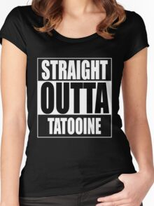 Straight OUTTA Tatooine - Star Wars Women's Fitted Scoop T-Shirt
