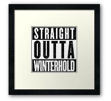 Adventurer with Attitude: Winterhold Framed Print