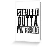 Adventurer with Attitude: Winterhold Greeting Card