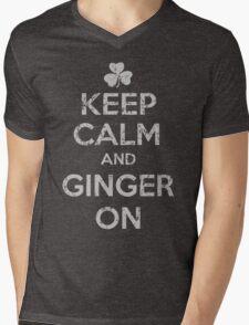 Keep Calm and Ginger On  Mens V-Neck T-Shirt