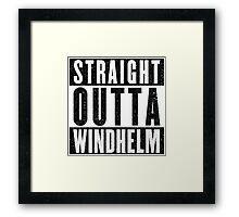 Adventurer with Attitude: Windhelm Framed Print