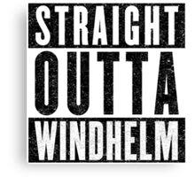Adventurer with Attitude: Windhelm Canvas Print
