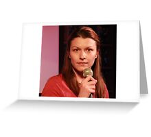 Amy Manuel - Comedian Greeting Card