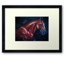horse sorrow  Framed Print