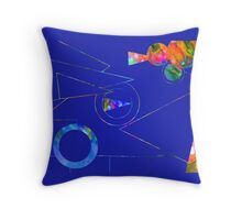 Abstract 167J Throw Pillow