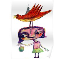 Bouncing a Ball With a Bird On My Head Poster