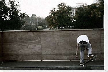 Skateboarding Contrast by Jack Bailey