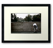 Skateboarding Contrast Framed Print