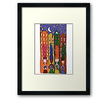 Ladies night out for drinks Framed Print
