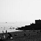 Brighton Beach Black&White by Jack Bailey