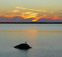Sunset on the Saint-Lawrence River   Québec by 29Breizh33