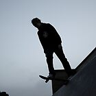 Silhouette Skateboarding Drop-in by Jack Bailey