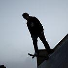 Silhouette Skateboarding Drop-in by Jack Bailey