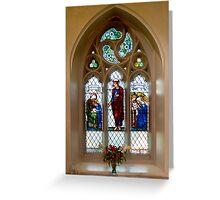 The Burne-Jones window, St.James's, Weybridge. Greeting Card