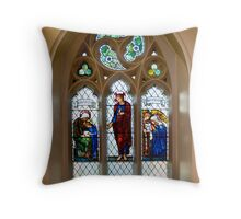 The Burne-Jones window, St.James's, Weybridge. Throw Pillow