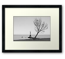 Alone against the Wind Framed Print