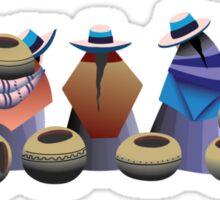 Market day in Otavalo Bolivia Sticker