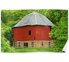 old round barn Poster