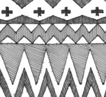 Ethnic Group Sketch Pattern  Sticker