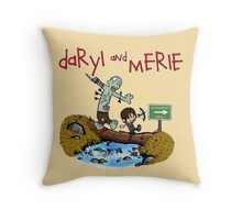 Daryl and Merle Throw Pillow