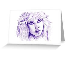 ScarJo Greeting Card