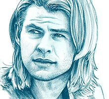 Chris Hemsworth by illusoryart