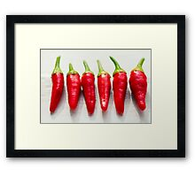 Red Chillies Framed Print