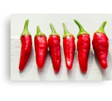 Red Chillies Canvas Print