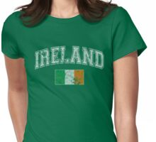 Vintage Ireland Flag Womens Fitted T-Shirt