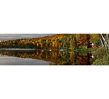 Cabin on the lake panorama Photographic Print